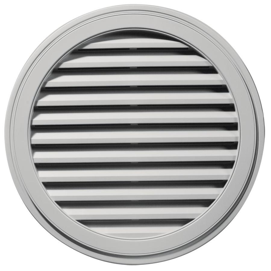 Builders Edge 12-in x 12-in Paintable Round Vinyl Gable Vent