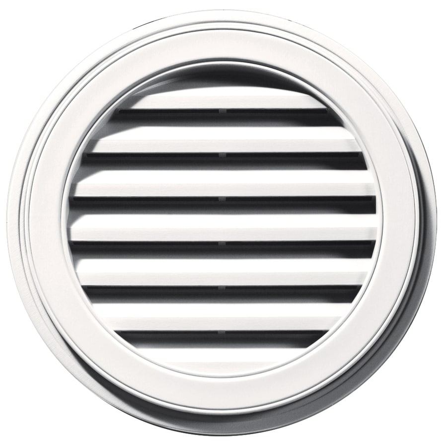 Builders Edge 22-in x 22-in Bright White Round Vinyl Gable Vent