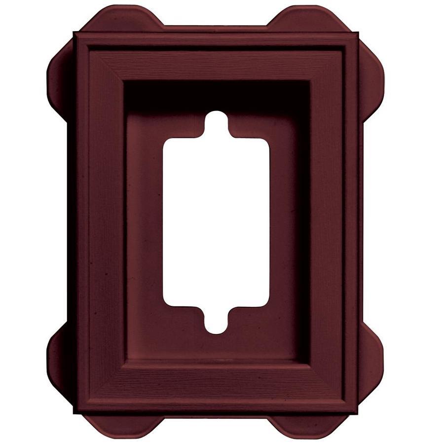 Builders Edge 5-in x 6.25-in Wineberry Vinyl Universal Mounting Block