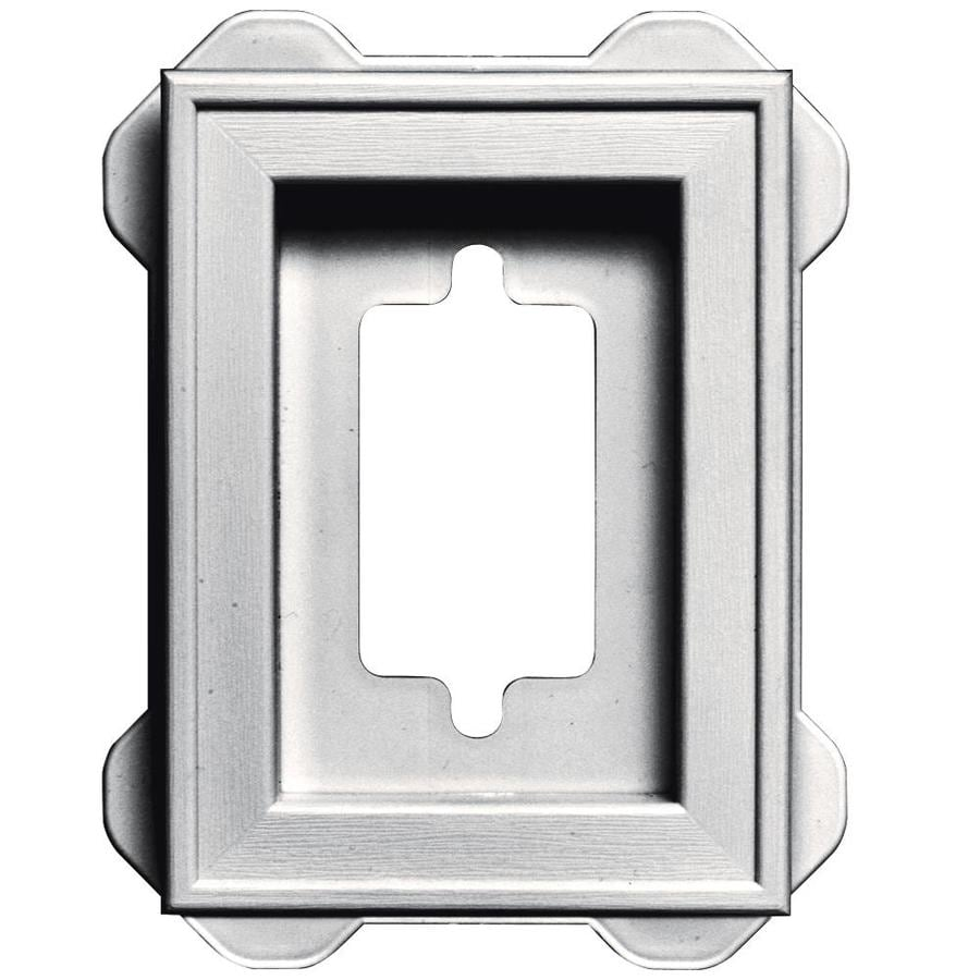 Builders Edge 5-in x 6.25-in Bright White Vinyl Universal Mounting Block