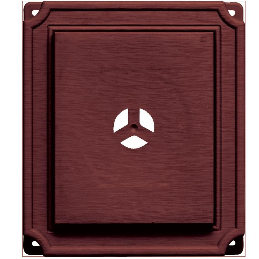 Builders Edge 7-in x 8-in Wineberry Vinyl Universal Mounting Block