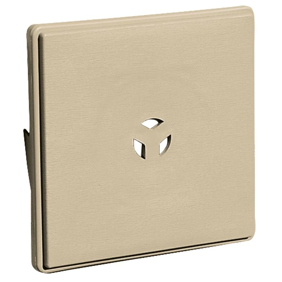 Builders Edge 6.625-in x 6.625-in Light Almond Vinyl Universal Mounting Block