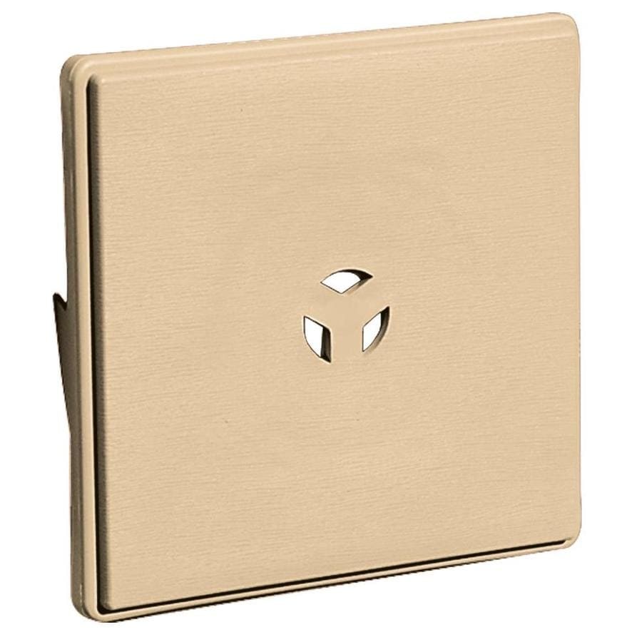 Builders Edge 6.625-in x 6.625-in Sandstone Maple Vinyl Universal Mounting Block