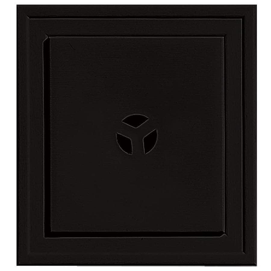 Builders Edge 7.3125-in x 7.3125-in Black Vinyl Universal Mounting Block