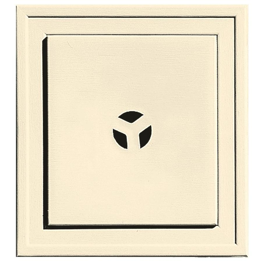 Builders Edge 7.3125-in x 7.3125-in Heritage Cream Vinyl Universal Mounting Block