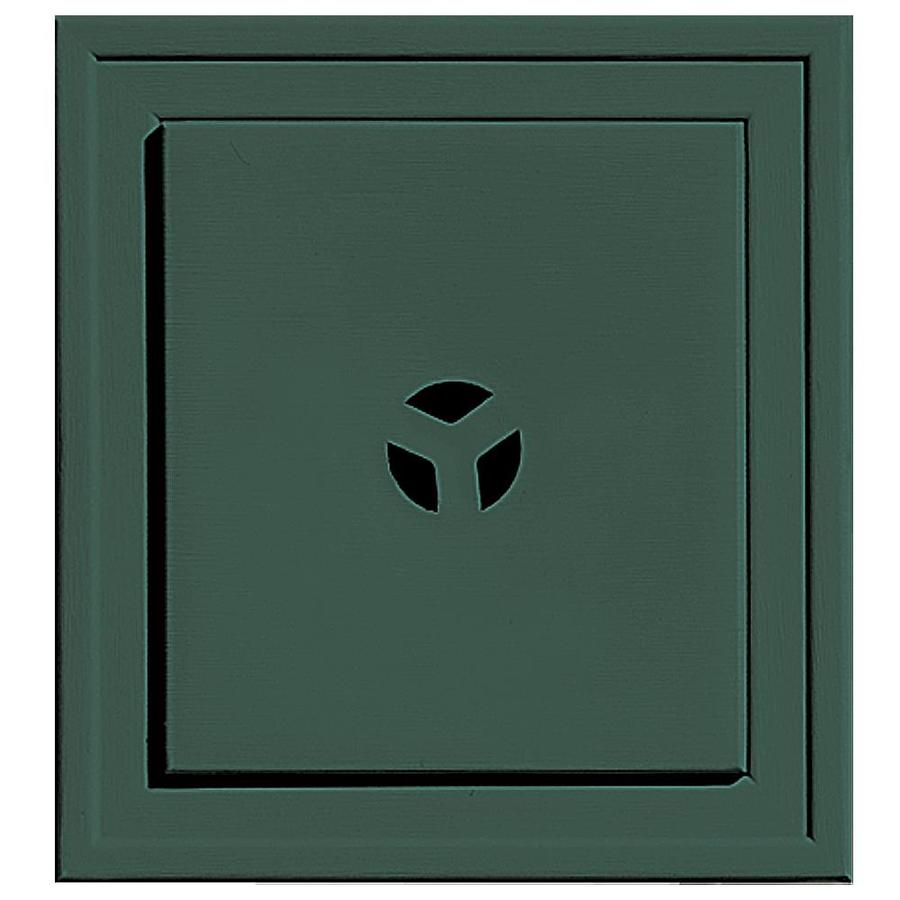 Builders Edge 7.3125-in x 7.3125-in Forest Green Vinyl Universal Mounting Block
