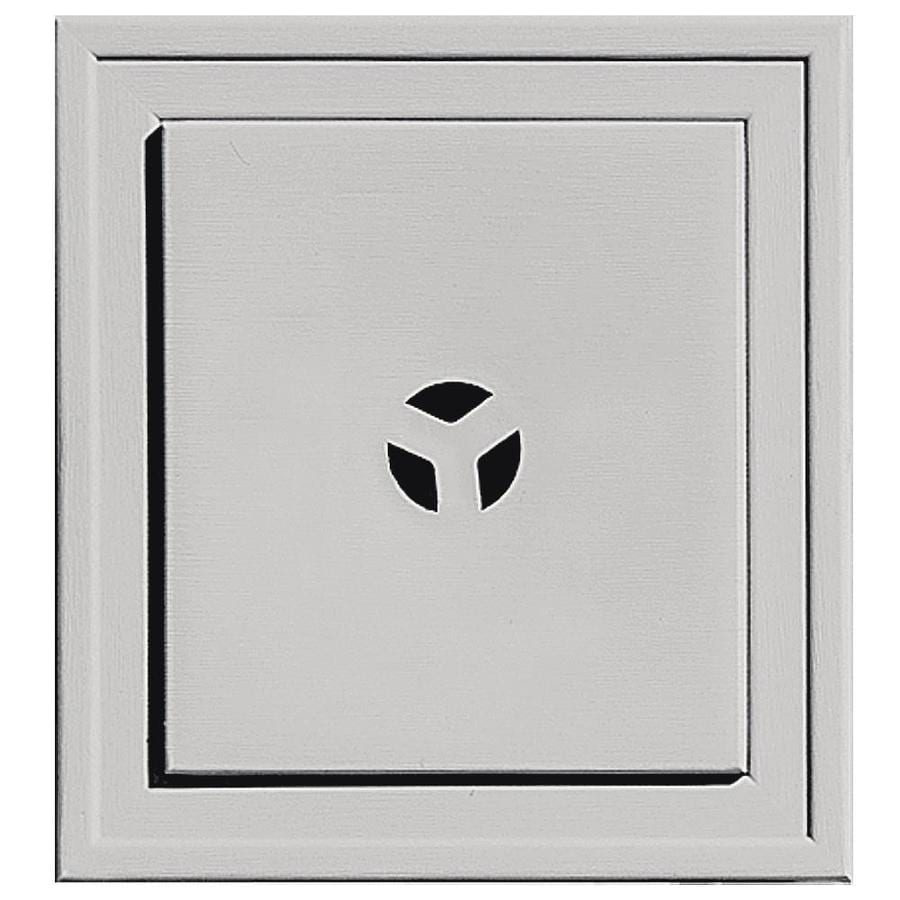 Shop Builders Edge 7.3125-in x 7.3125-in Paintable Vinyl Universal Mounting Block at Lowes.com