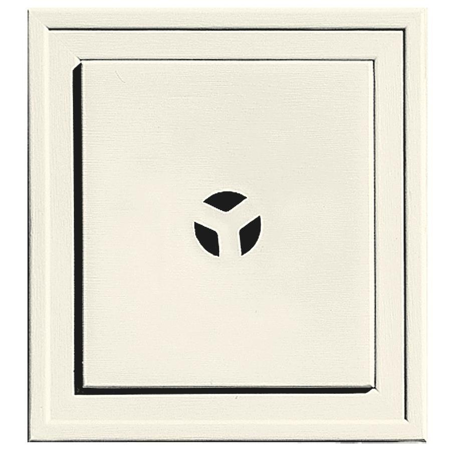Builders Edge 7.3125-in x 7.3125-in Parchment Vinyl Universal Mounting Block