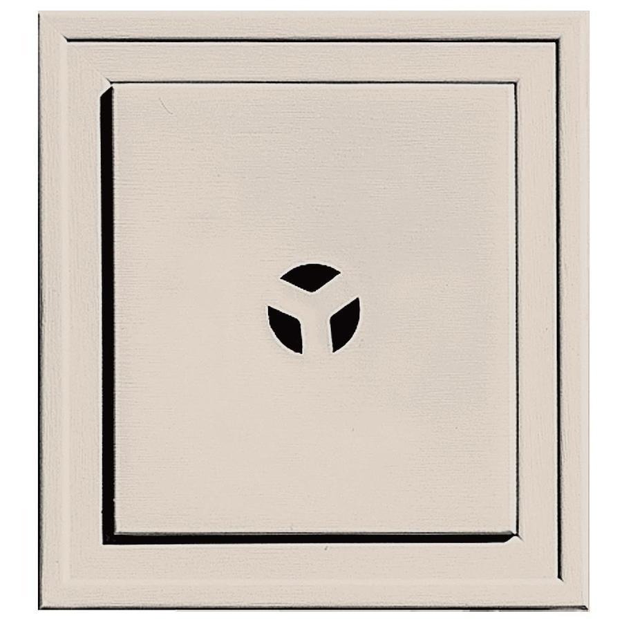 Builders Edge 7.3125-in x 7.3125-in Almond Vinyl Universal Mounting Block