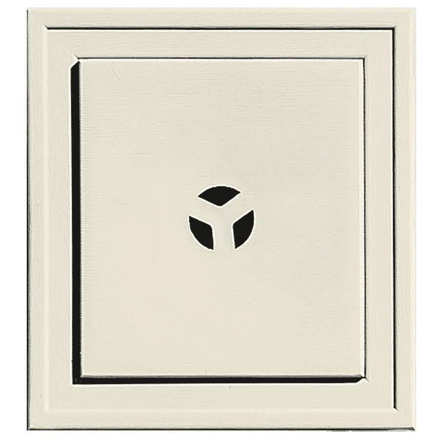 Builders Edge 7.3125-in x 7.3125-in Linen Vinyl Universal Mounting Block