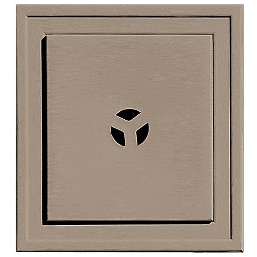 Builders Edge 7.3125-in x 7.3125-in Clay Vinyl Universal Mounting Block