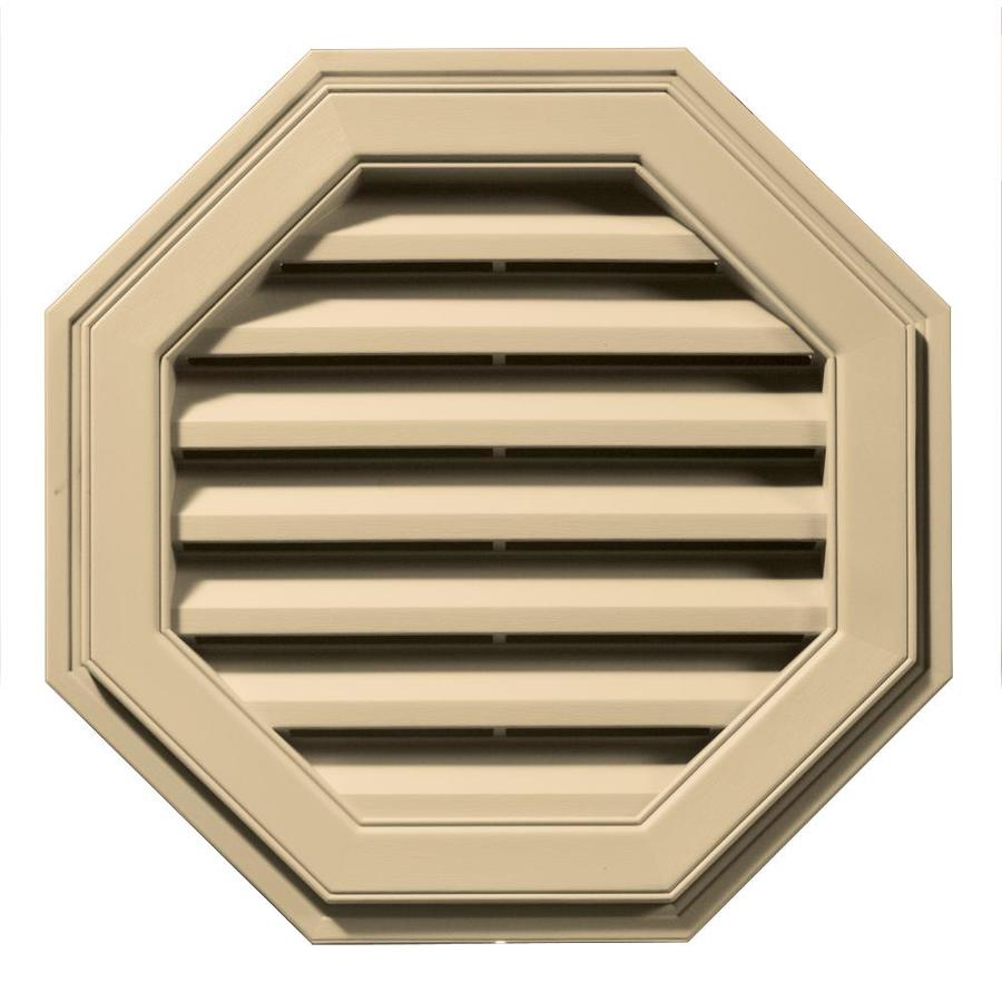 Builders Edge 8-in x 7-in Dark Almond Octagon Vinyl Gable Vent