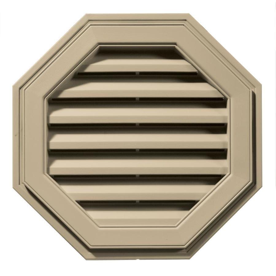 Builders Edge 8-in x 7-in Light Almond Octagon Vinyl Gable Vent