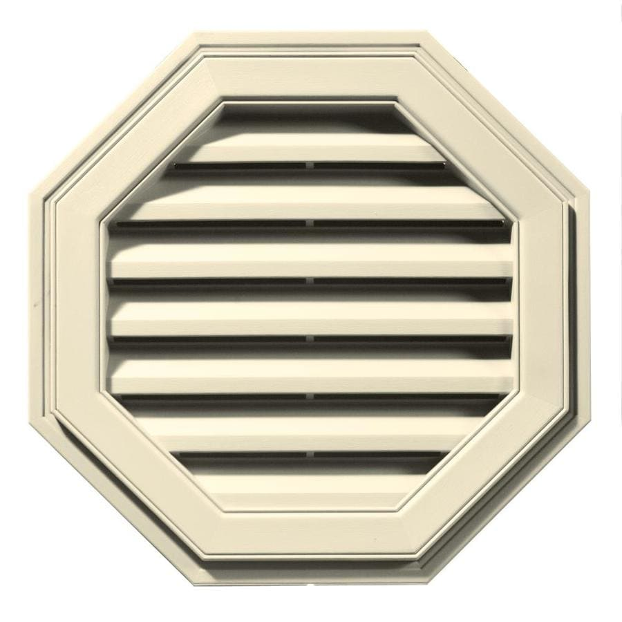 Builders Edge 8-in x 7-in Heritage Cream Octagon Vinyl Gable Vent