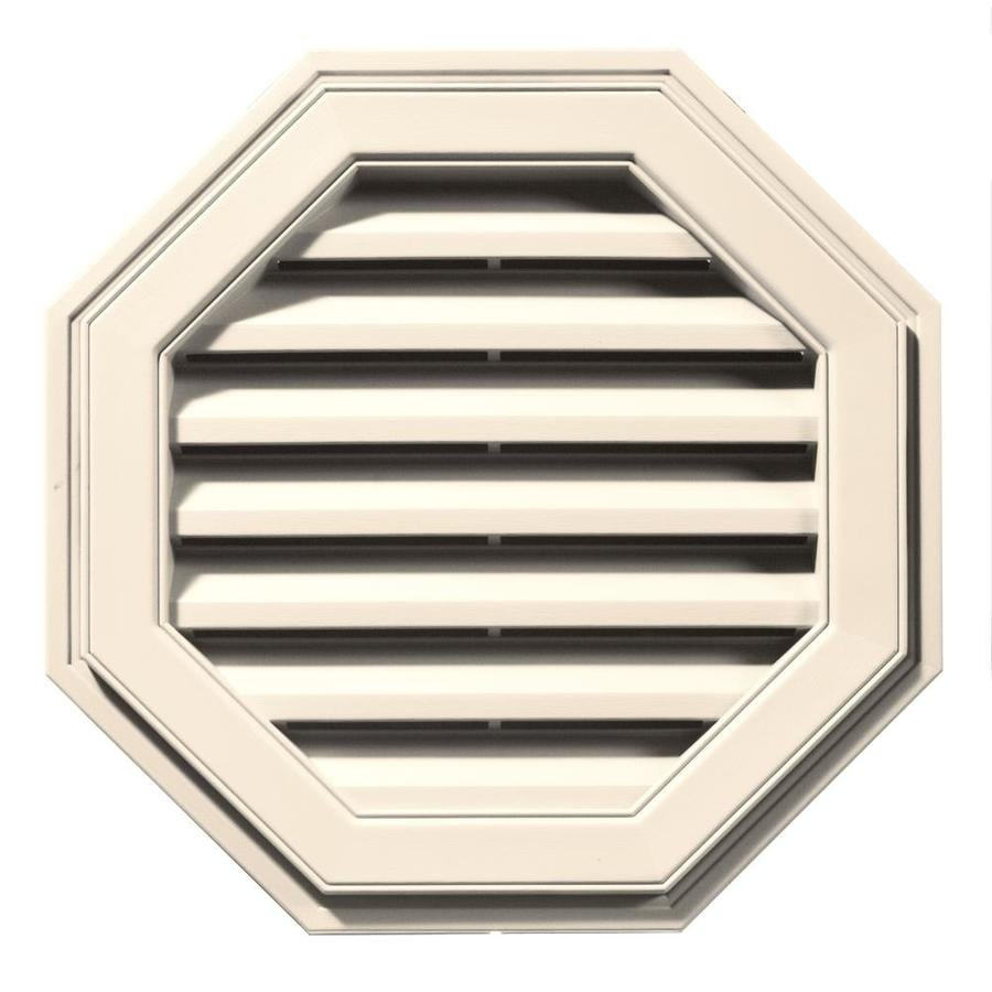Builders Edge 22-in x 22-in Sandstone Beige Octagon Vinyl Gable Vent