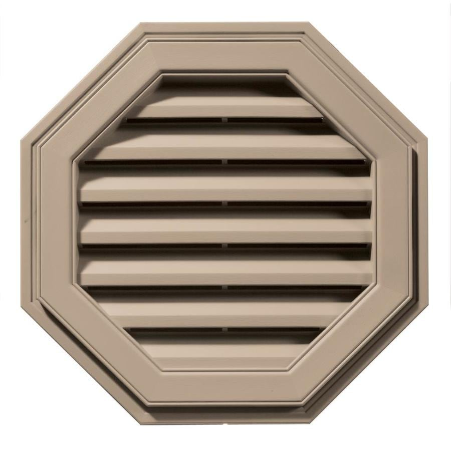 Builders Edge 22-in x 22-in Wicker Octagon Vinyl Gable Vent