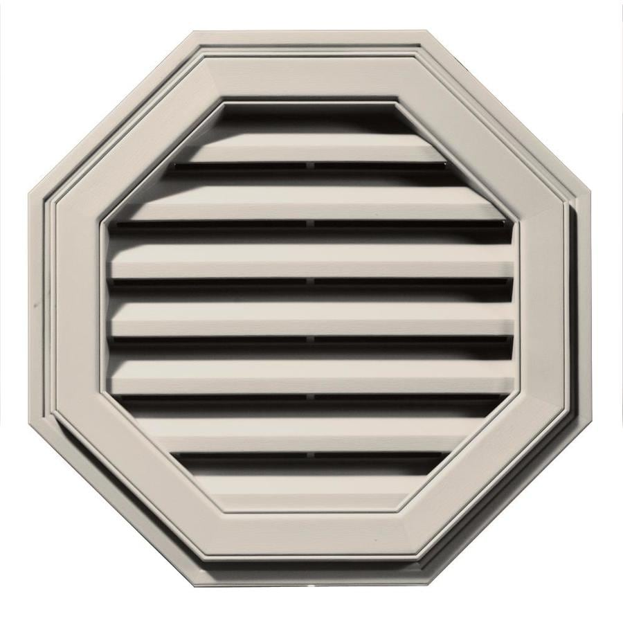 Builders Edge 22-in x 22-in Almond Octagon Vinyl Gable Vent