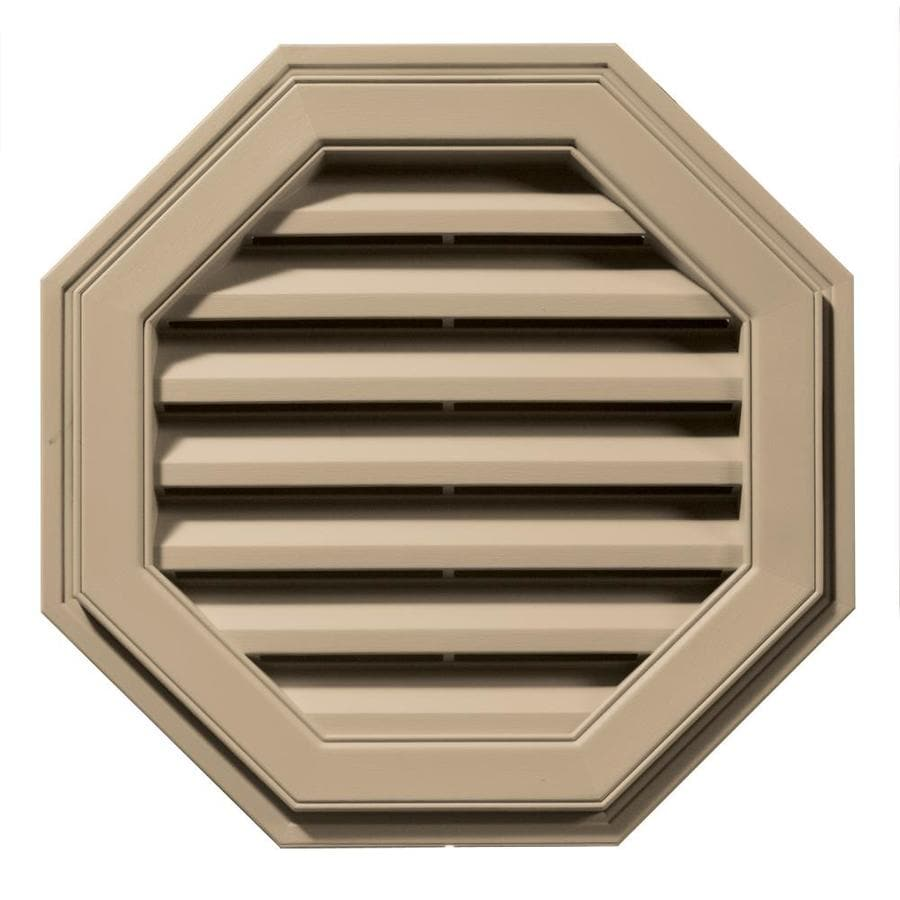 Builders Edge 22-in x 22-in Tan Octagon Vinyl Gable Vent