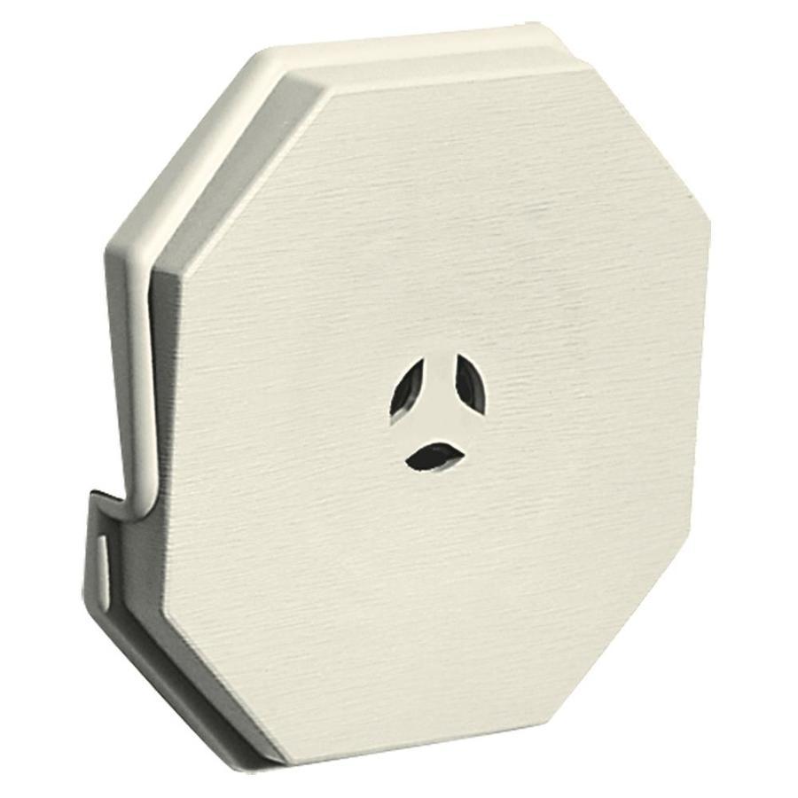 Builders Edge 6.6875-in x 6.6875-in Linen Vinyl Universal Mounting Block