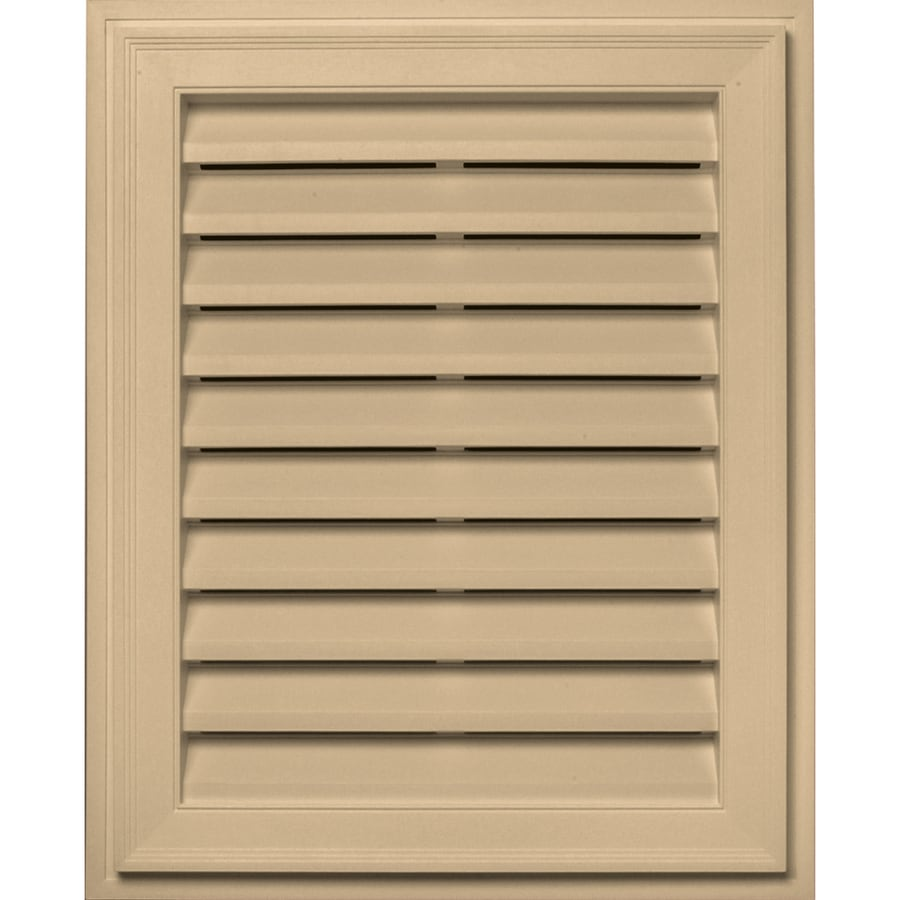 Builders Edge 20-in x 30-in Sandstone Maple Rectangle Vinyl Gable Vent