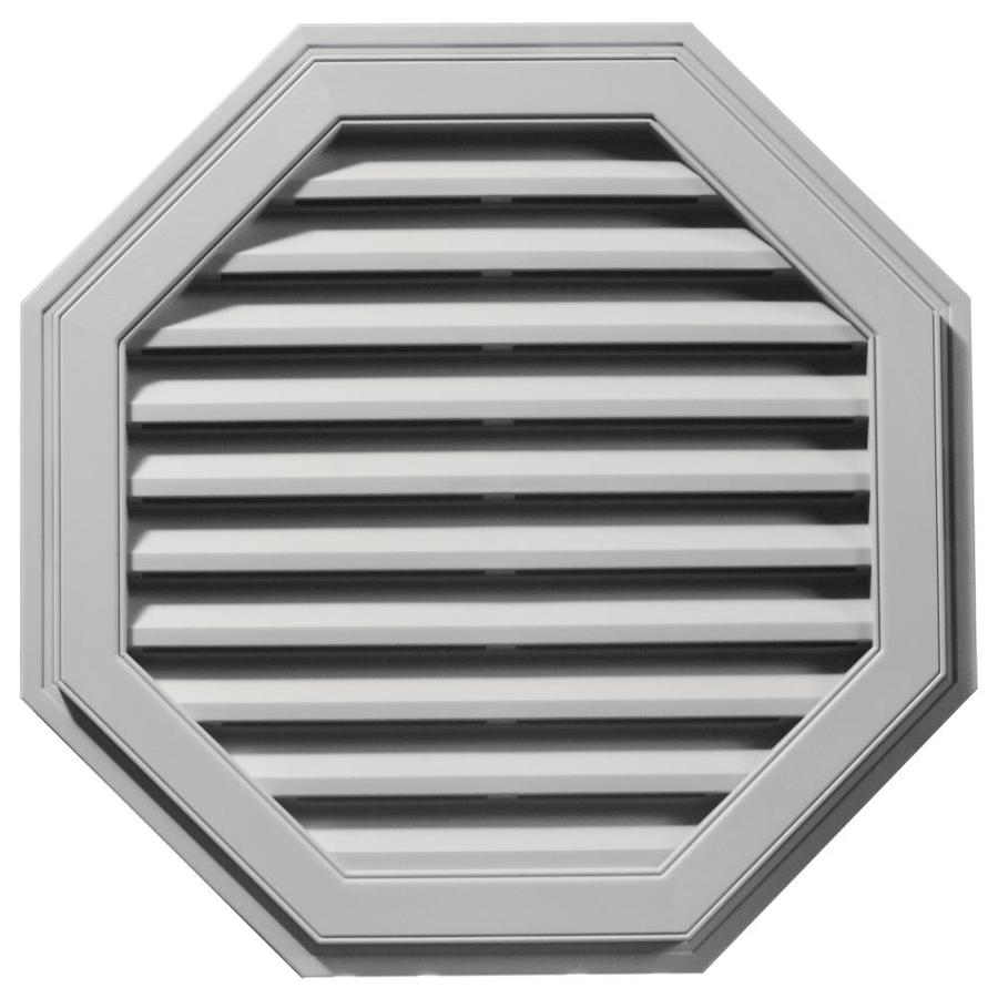 Builders Edge 32-in x 32-in Paintable Octagon Vinyl Gable Vent