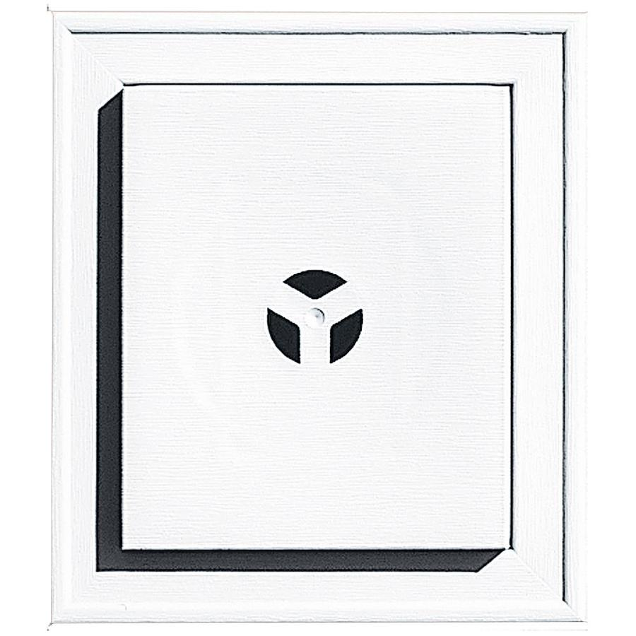 Builders Edge 7-in x 8-in White Vinyl Universal Mounting Block