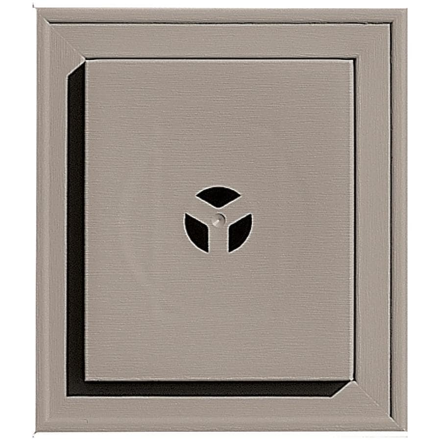 Builders Edge 7-in x 8-in Clay Vinyl Universal Mounting Block
