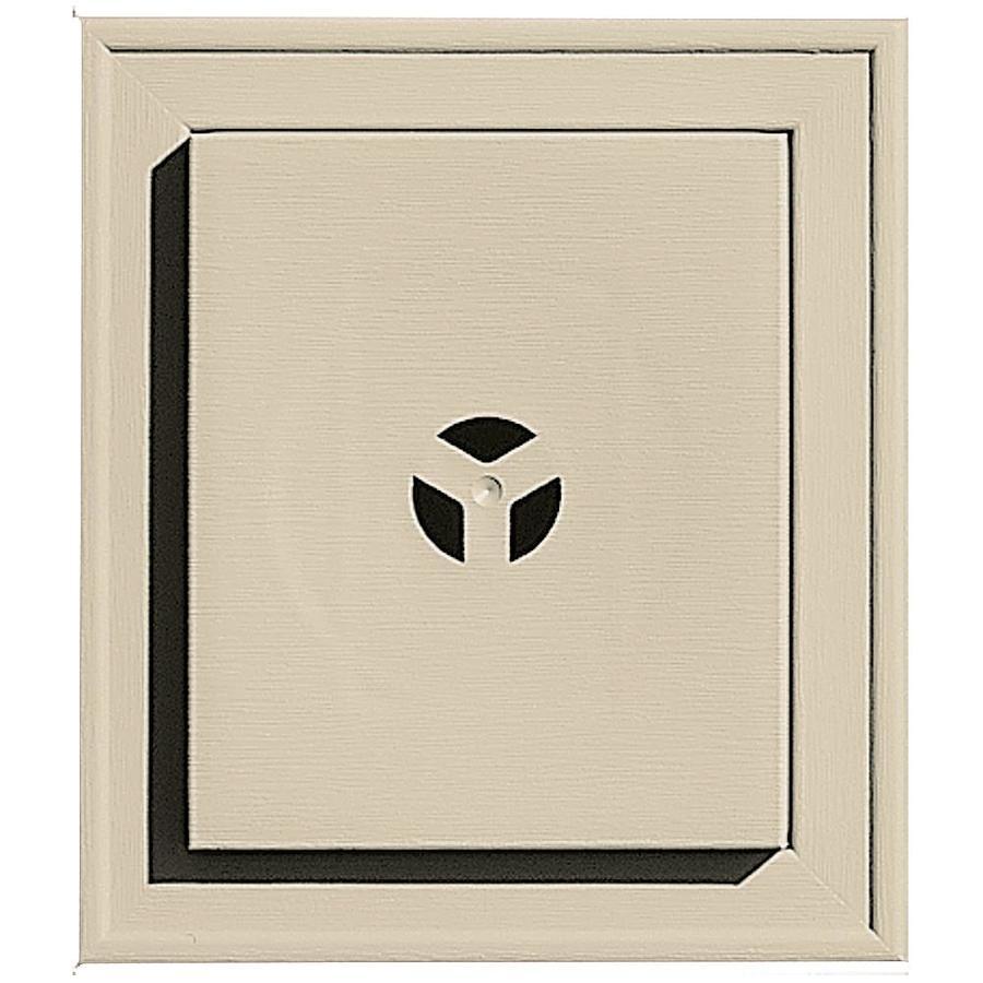 Builders Edge 7-in x 8-in Sandalwood Vinyl Universal Mounting Block