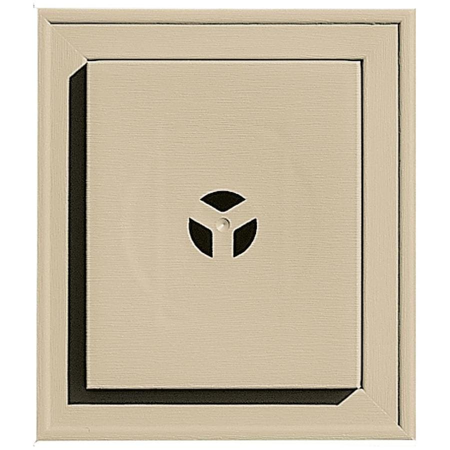 Builders Edge 7-in x 8-in Light Almond Vinyl Universal Mounting Block