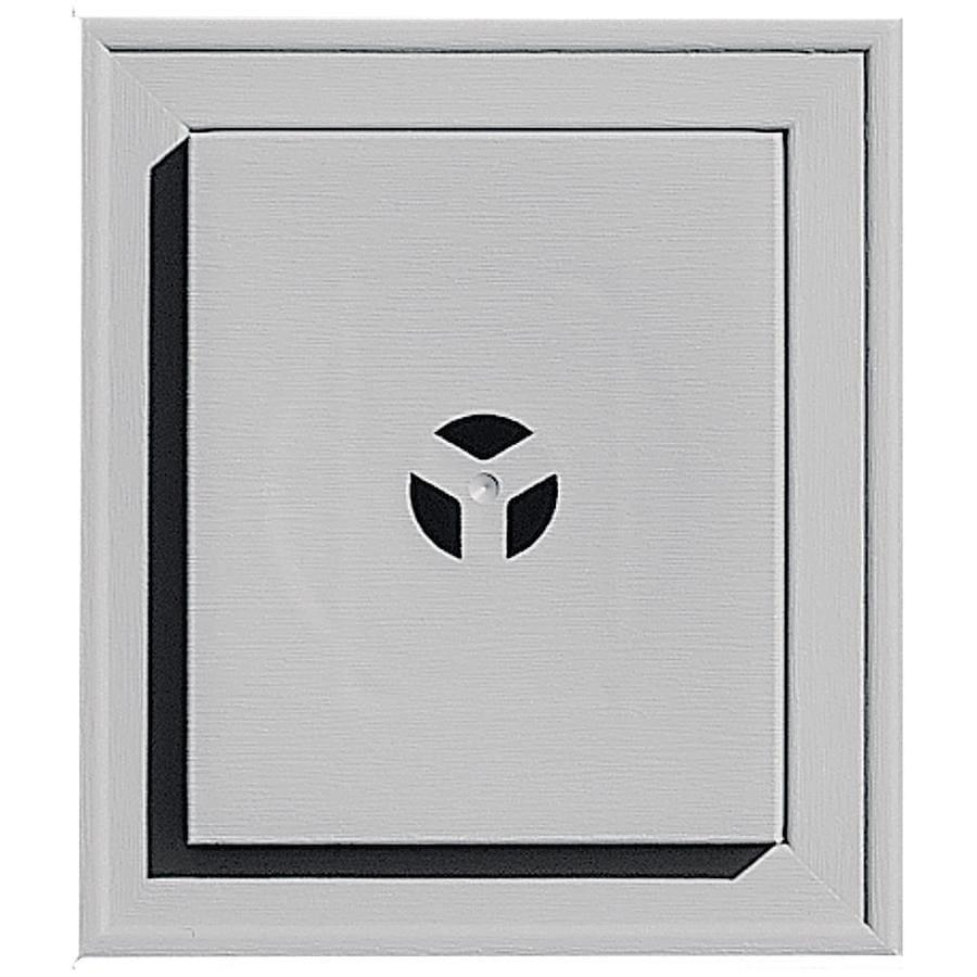 Builders Edge 7-in x 8-in Gray Vinyl Universal Mounting Block