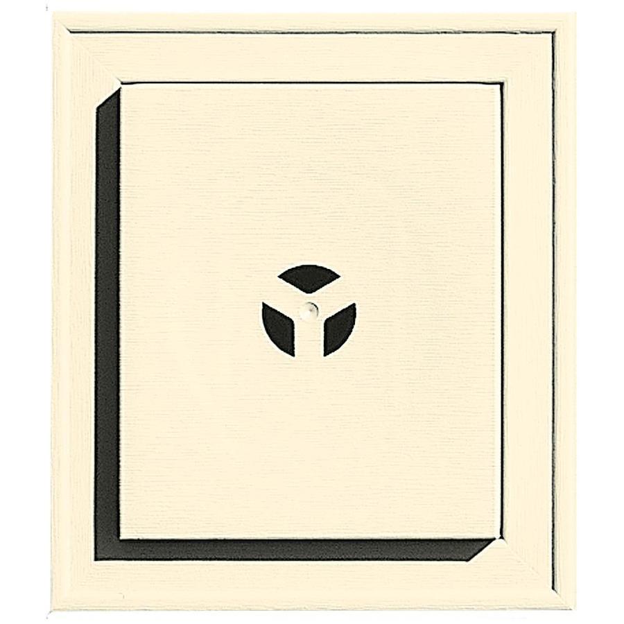 Builders Edge 7-in x 8-in Heritage Cream Vinyl Universal Mounting Block