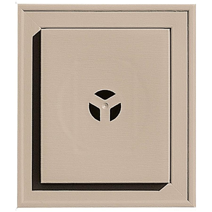 Builders Edge 7-in x 8-in Wicker Vinyl Universal Mounting Block