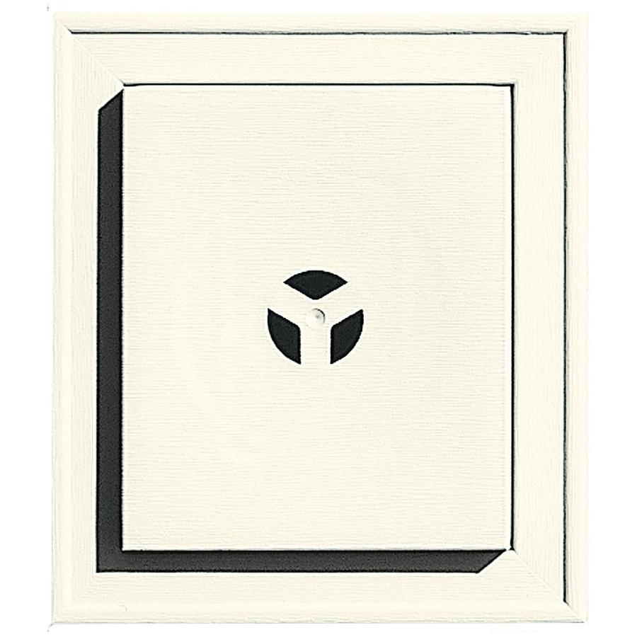 Builders Edge 7-in x 8-in Parchment Vinyl Universal Mounting Block