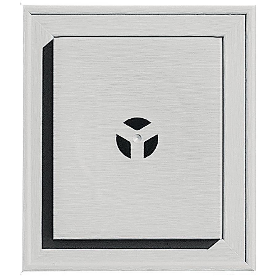 Builders Edge 7-in x 8-in Paintable Vinyl Universal Mounting Block