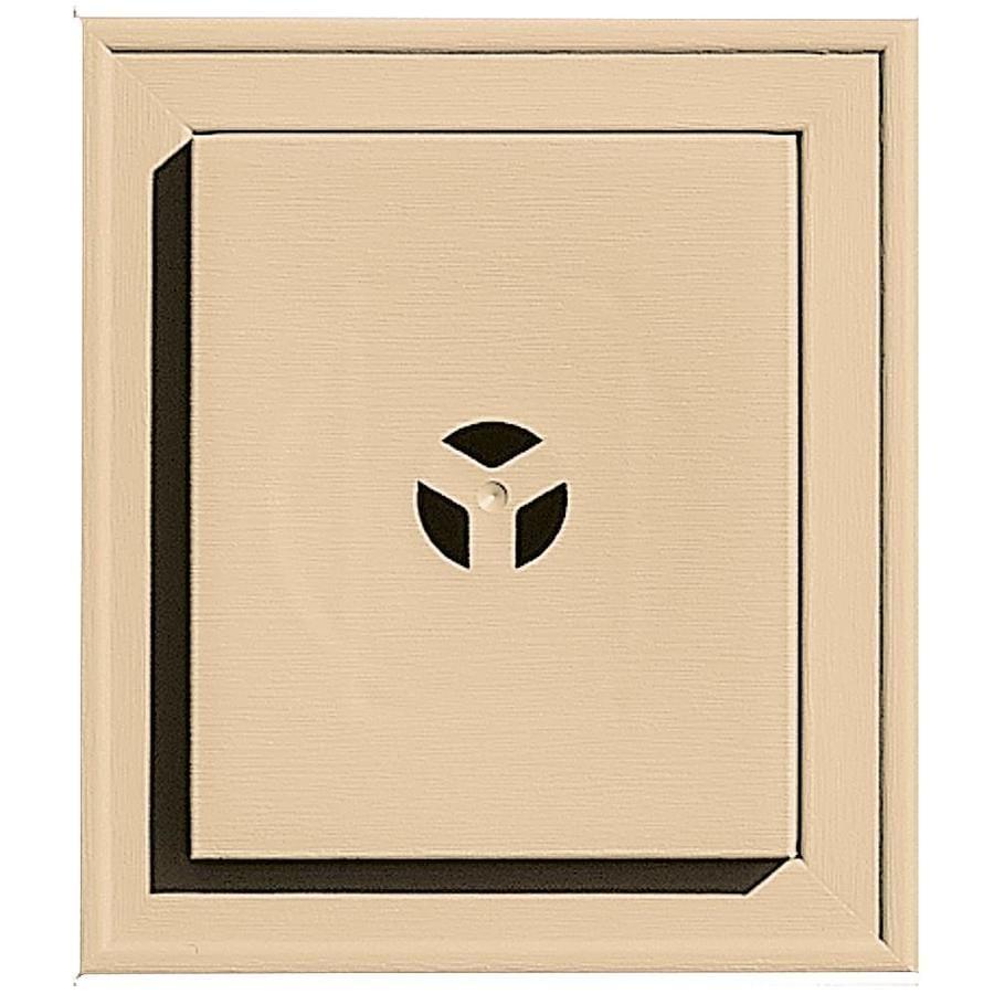 Builders Edge 7-in x 8-in Sandstone Maple Vinyl Universal Mounting Block