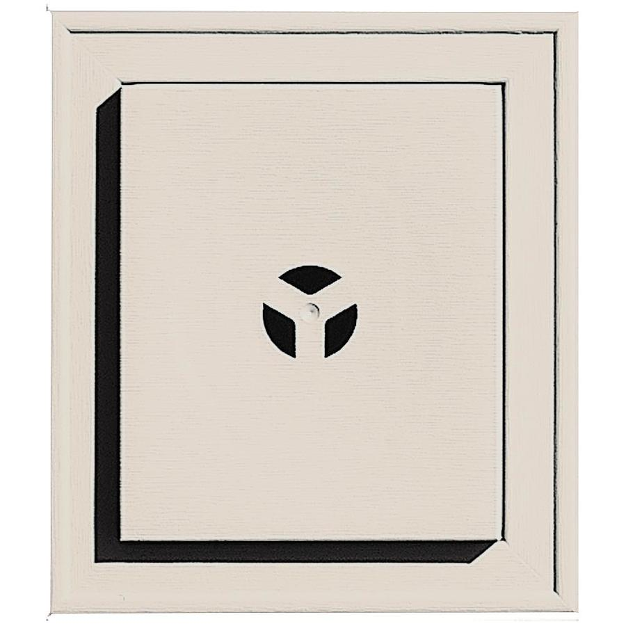 Builders Edge 7-in x 8-in Almond Vinyl Universal Mounting Block