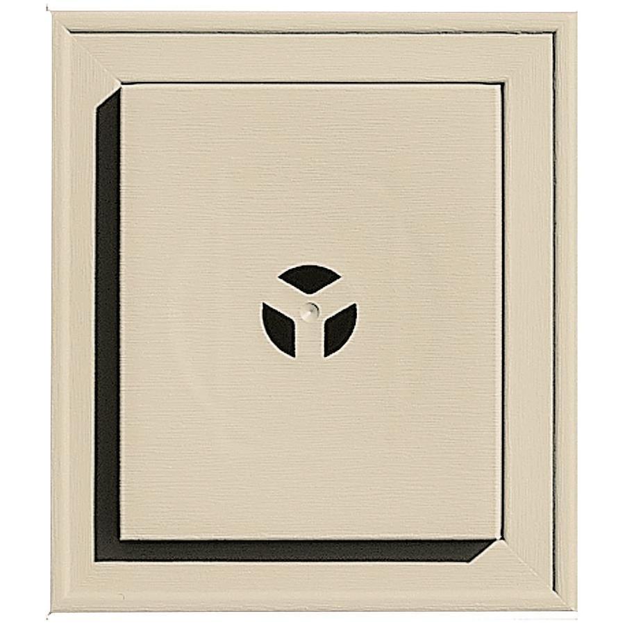 Builders Edge 7-in x 8-in Almond Vinyl Universal Mounting Block