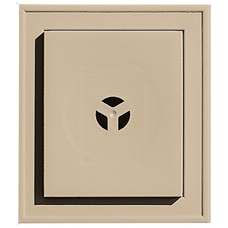 Builders Edge 7-in x 8-in Tan Vinyl Universal Mounting Block