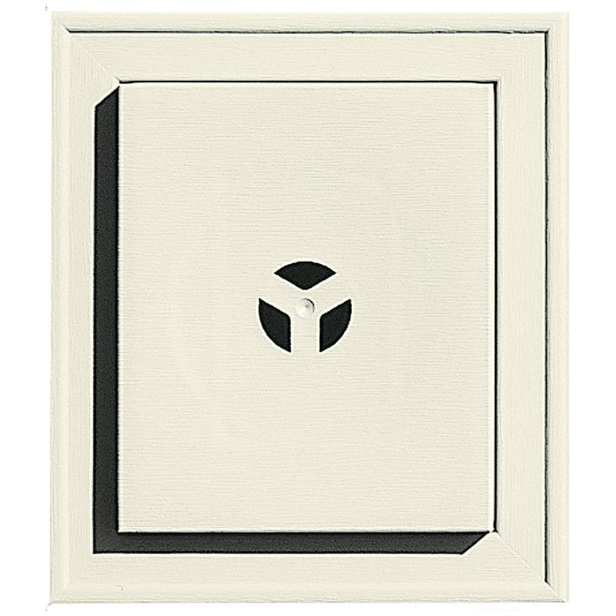 Builders Edge 7-in x 8-in Linen Vinyl Universal Mounting Block