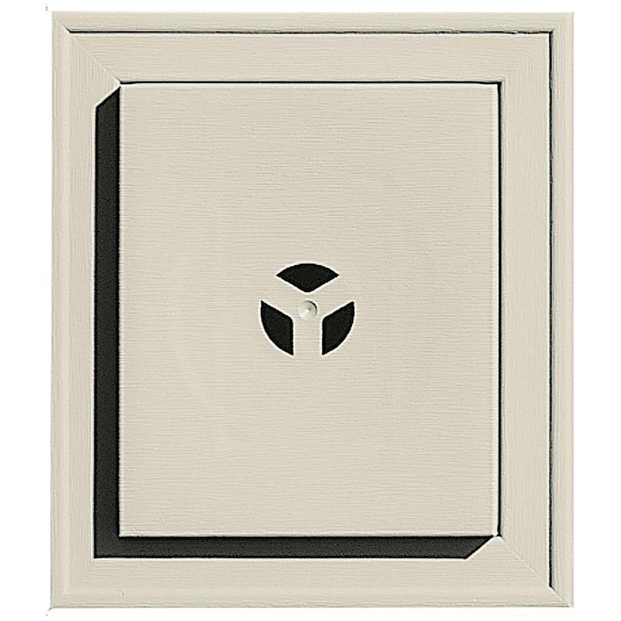 Builders Edge 7-in x 8-in Champagne Vinyl Universal Mounting Block