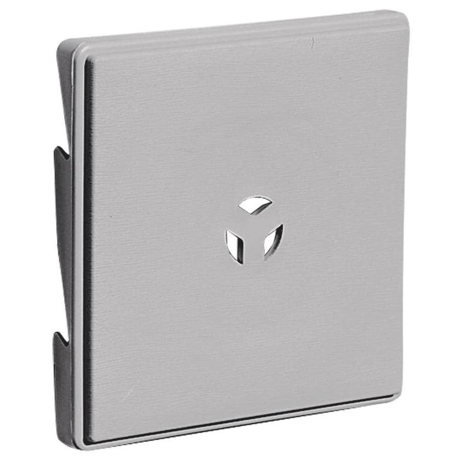 Builders Edge 6 625 In X 6 625 In Gray Vinyl Universal Mounting Block At Lowes Com