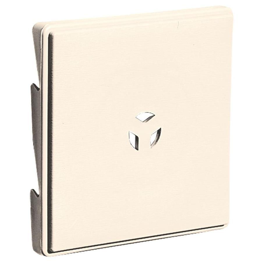 Builders Edge 6.625-in x 6.625-in Sandstone Beige Vinyl Universal Mounting Block