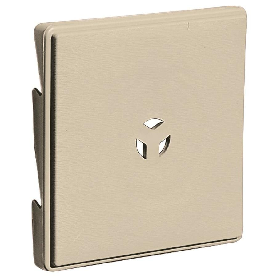 Shop Builders Edge 6.625-in x 6.625-in Almond Vinyl Universal Mounting Block at Lowes.com