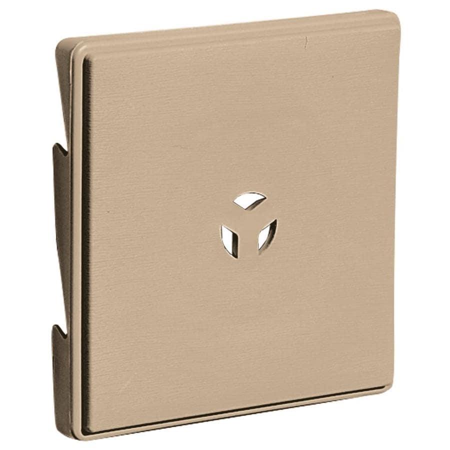 Builders Edge 6.625-in x 6.625-in Tan Vinyl Universal Mounting Block