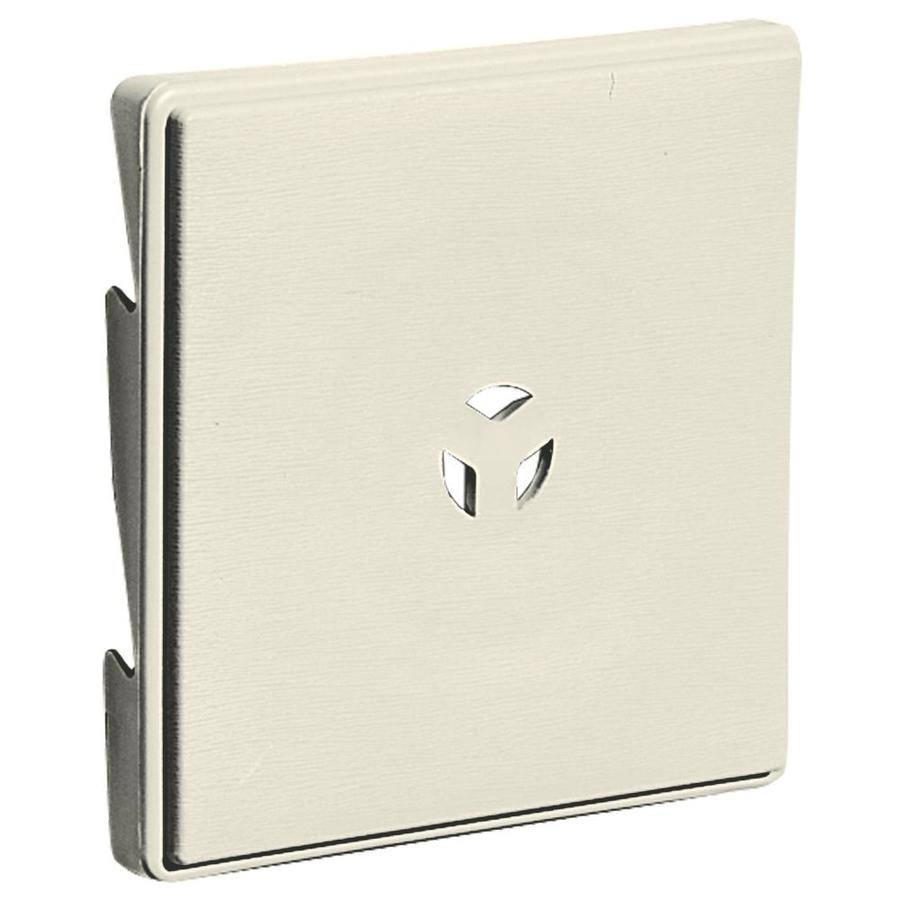Builders Edge 6.625-in x 6.625-in Linen Vinyl Universal Mounting Block