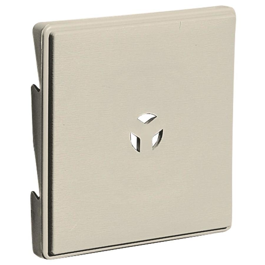 Builders Edge 6.625-in x 6.625-in Champagne Vinyl Universal Mounting Block