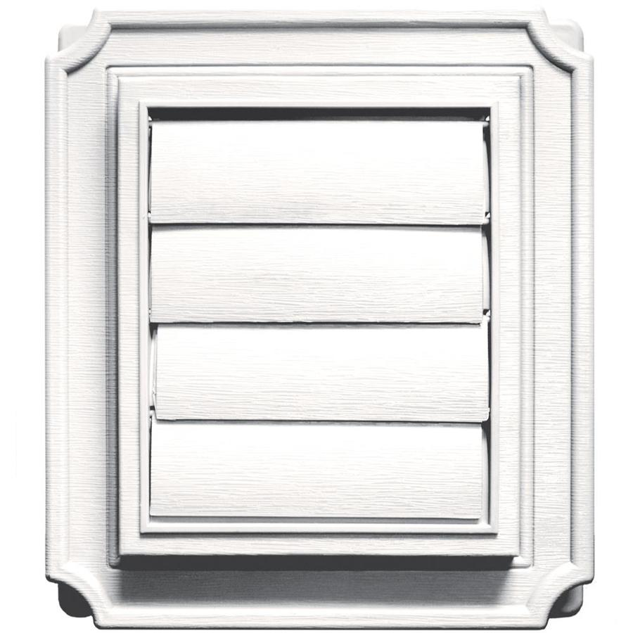 Shop Builders Edge 4 In Plastic Louvered Dryer Vent Cap At