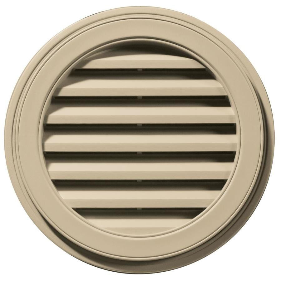 Builders Edge 22-in x 22-in Light Almond Round Vinyl Gable Vent