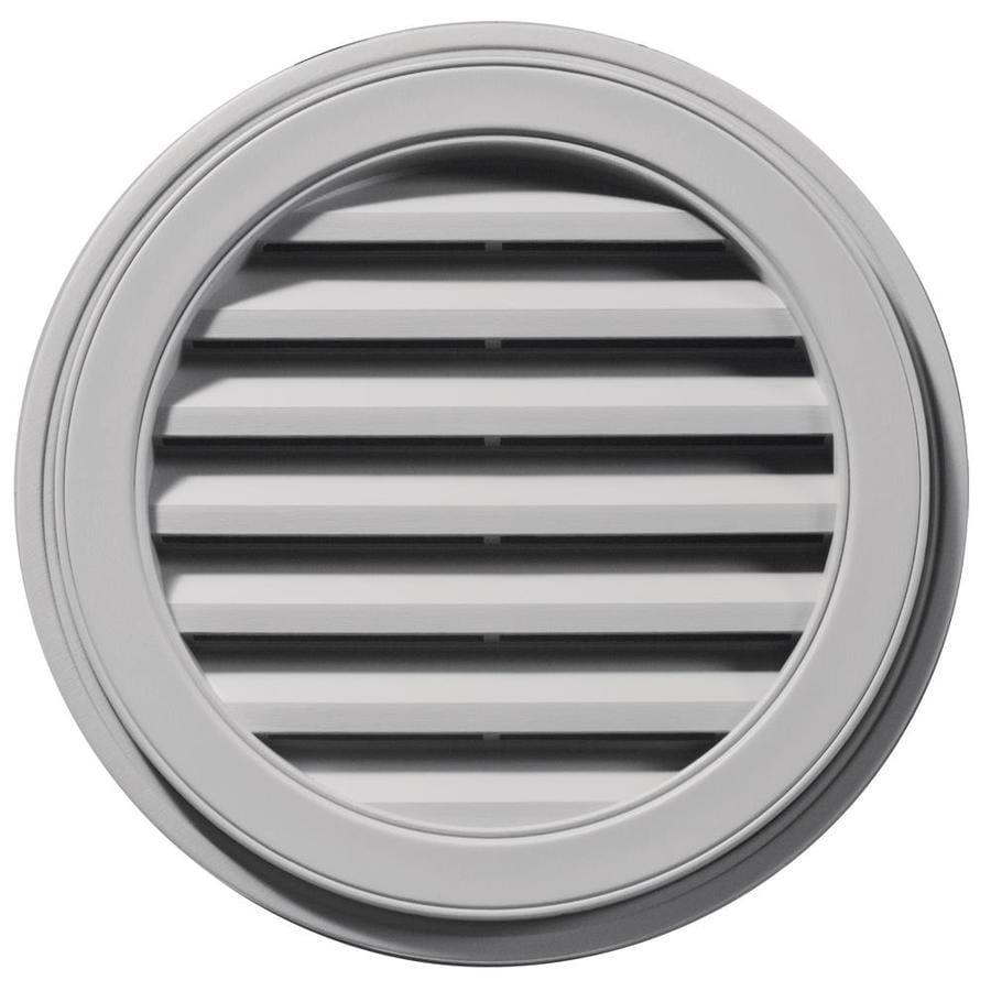Builders Edge 8-in x 7-in Gray Round Vinyl Gable Vent