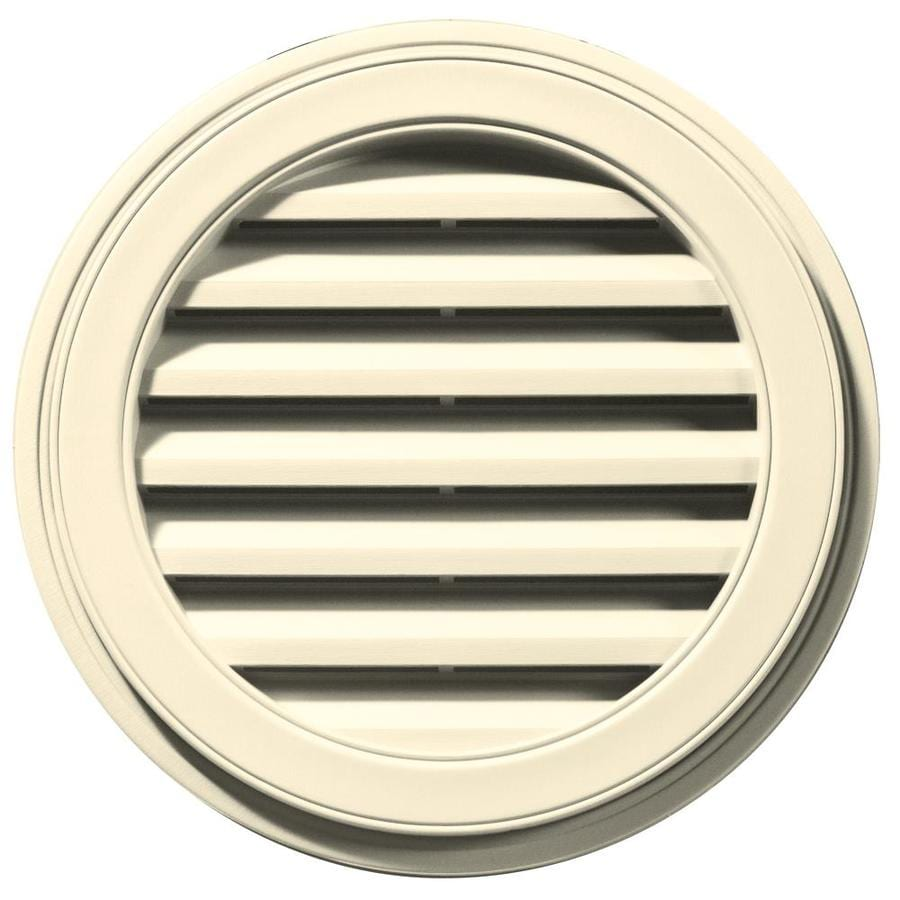 Builders Edge 8-in x 7-in Heritage Cream Round Vinyl Gable Vent